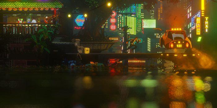 2Dと3Dが融合した驚異的に美しいピクセルアートの世界。ポスト・サイバーパンク・アドベンチャー「The Last Night」は2018年内リリース予定。
